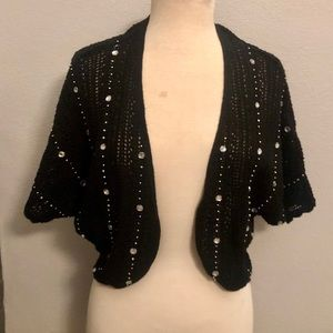 INC International Concepts Crystal Beaded Shrug